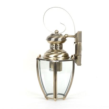 Wandlamp Norma met gematteerd messing armatuur en helder / doorzichtig glas