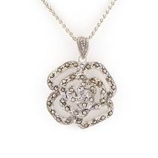 Zilveren Collier Rosae