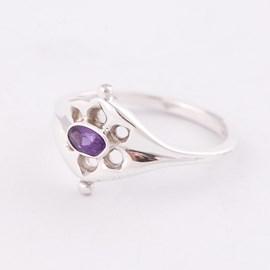 Ring Ancient Zilver met Amethist