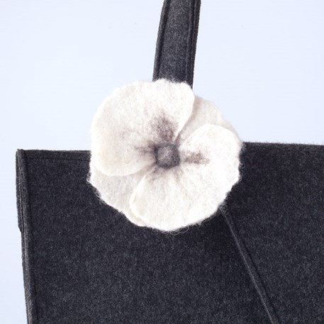 Handtas Design Nathalie - Objectif met witte bloem
