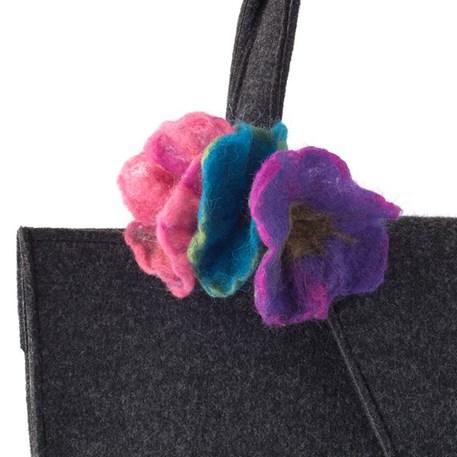 Handtas Design Nathalie - Objectif met trio bloem broche