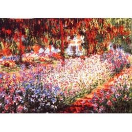 Wandtapijt Irissen in de tuin van Monet