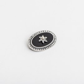 Broche Onyx Placque Perl