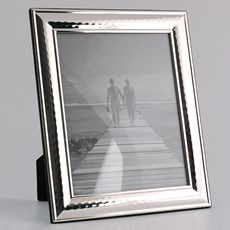 Fotolijst Zilver met Hamerslag