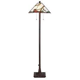 Tiffany Vloerlamp Exotic Maple
