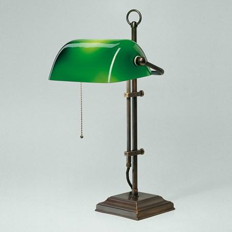 Banker Lamp Classic Square | Verstelbaar | Brons en Groen