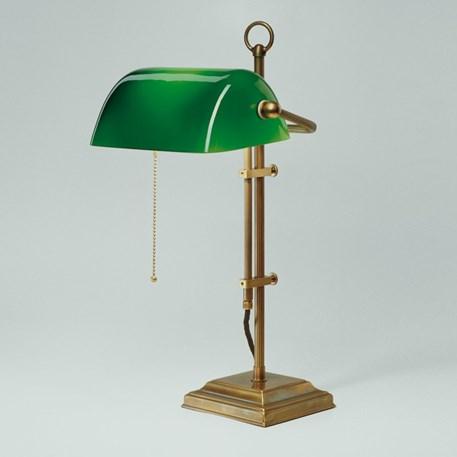 Banker Lamp Classic Square | Verstelbaar | Messing en Groen