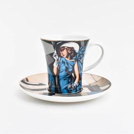 Espressokop en schotel   Tamara de Lempicka