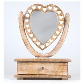 Tafelspiegel met lade Love