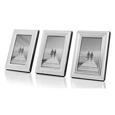 Set van 3 Verzilverde Fotolijstjes Deco