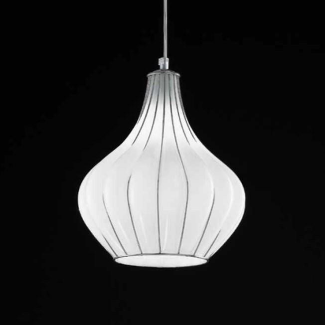 Venetiaanse Hanglamp Druppel | Opaal Wit