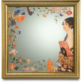 Spiegel Dame met waaier   Klimt