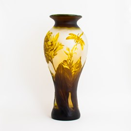 Art Nouveau Vaas Gele Libellenpracht