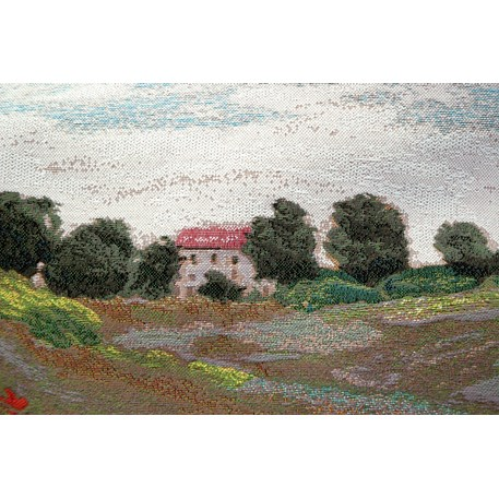 Detail: het huis op de achtergrond