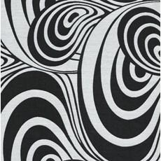 Gordijnstof Draaikolk | Zwart-Wit