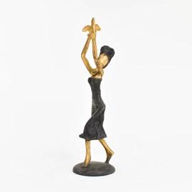 Bronzen Sculptuur / Gouden Vogel