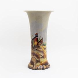 Porseleinen vaas met fazanten