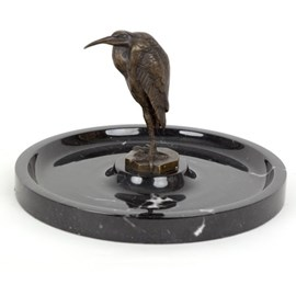 Bronzen Ibis in Marmer