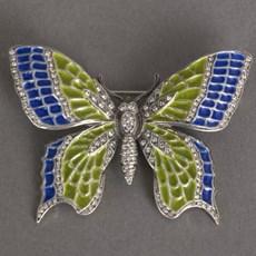 Broche Emaille Vlinder Brilliance