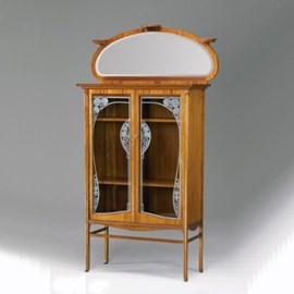 Art Nouveau Vitrinekast Sier