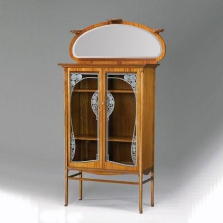 Art Nouveau Meubels Antiek.Art Nouveau Vitrinekast Sier