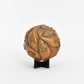 Sculptuur Escher Bol met Vissen