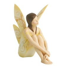 Sculptuur Friendship Fairy Geel