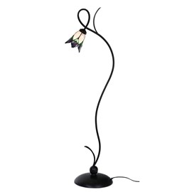 Tiffany Vloerlamp Lovely Flower Purple