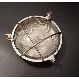 Wandlamp of plafondlamp rond matnikkel