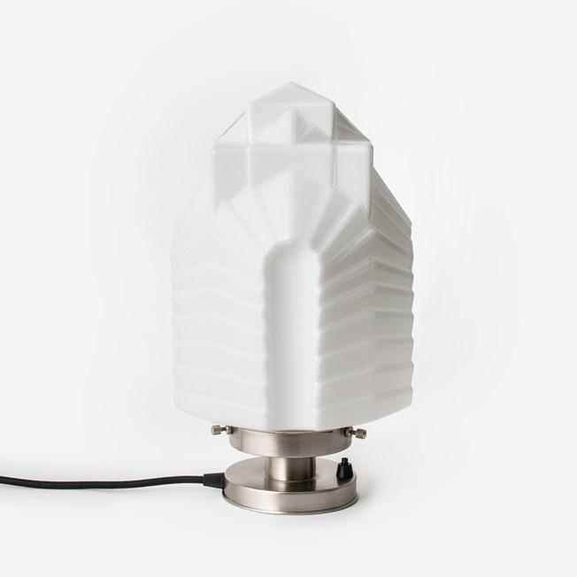Tafellamp Chrysler 20's Matnikkel