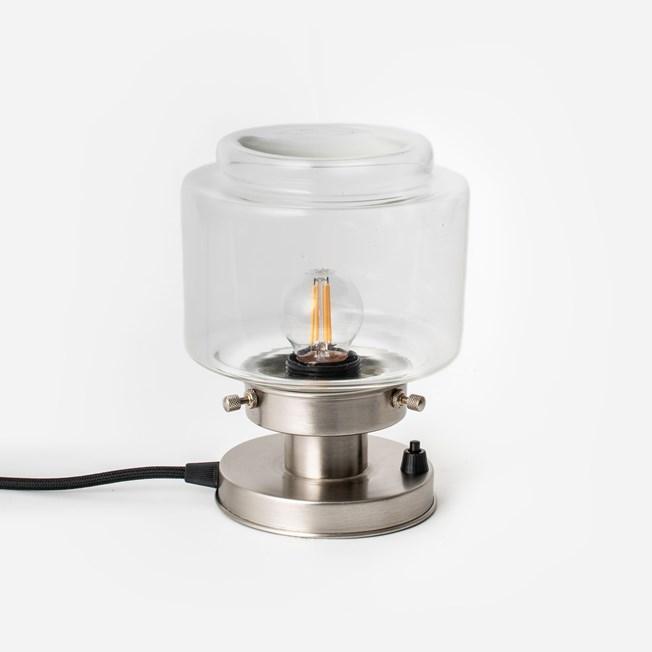 Tafellamp Getrapte Cilinder Small Helder 20's Matnikkel