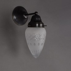 Wandlamp Ellips met Gladde Rand