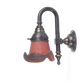 Wandlamp Kort Rokje Pâte-de-verre Gebogen