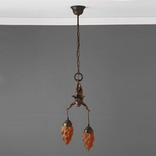 voorbeeld van een van onze Cupido Lampen en Pate-de-verre