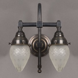 Badkamerlamp Ellips 2-Lichts Grote Boog