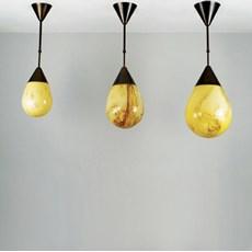Hanglamp druppels brons
