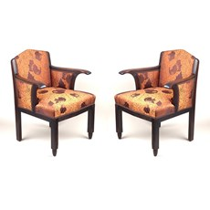 Set van 2 Authentieke Amsterdamse School Fauteuils
