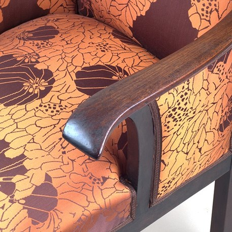 Detail Armleuning Amsterdamse School Fauteuil