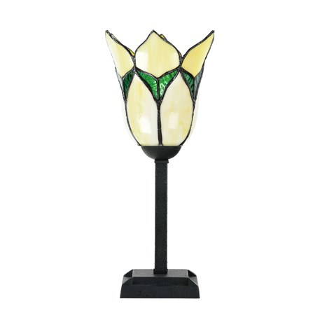 Tiffany Tafellamp Lovely Flower Yellow