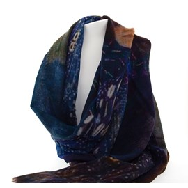 Sjaal Klimt 'Vrouw in blauw'